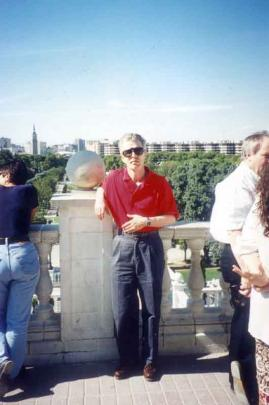 In Frankfurt, Germany, about 2000 as motoring editor of the Otago Daily Times for the launch of...