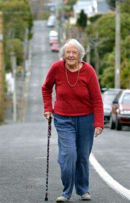 Dawn Ibbotson (99) gave up driving after a suggestion from her daughter. Photo by Stephen Jaquiery.
