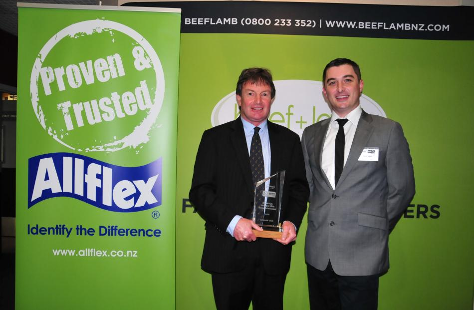 Delighted with winning the Allflex sheep industry 