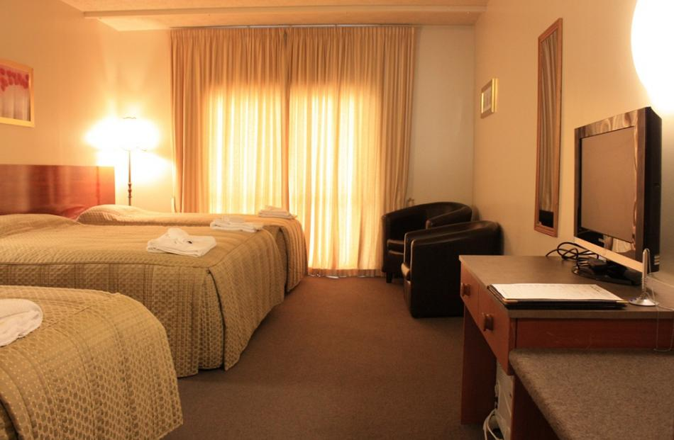 Deluxe room at the Victoria Hotel.