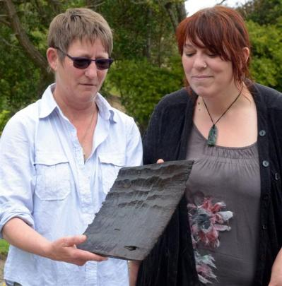 Department of Conservation historic technical adviser Shar Briden (left) and Te Runanga o Otakou...