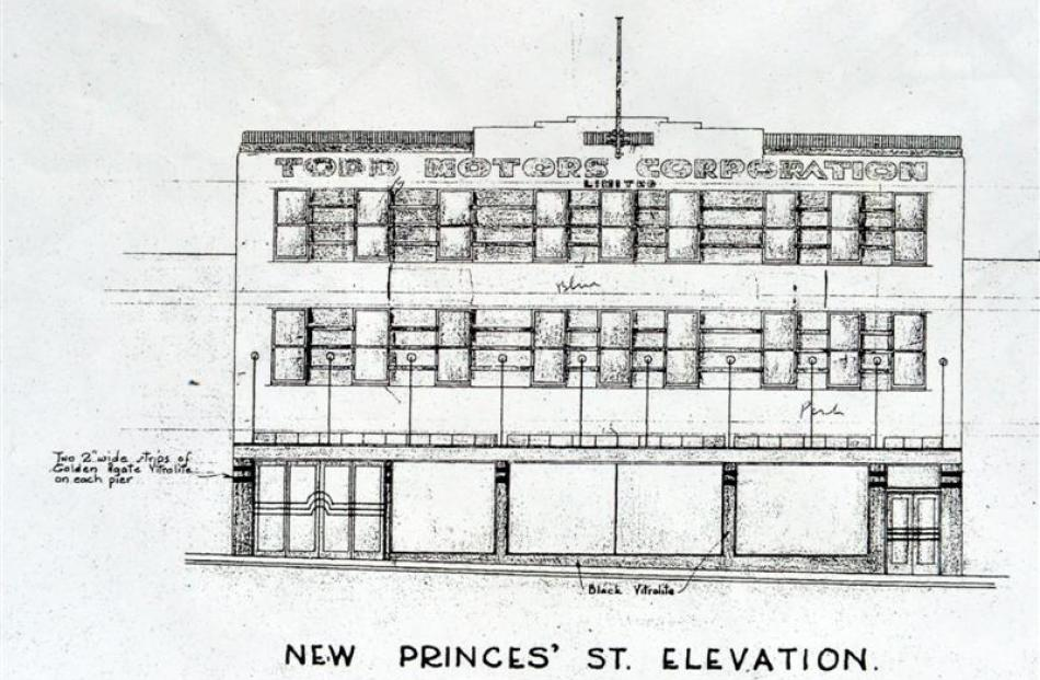 Design Drawings Show How The Dunedin Building Will Look Once Returned To Its 1938 Art Deco