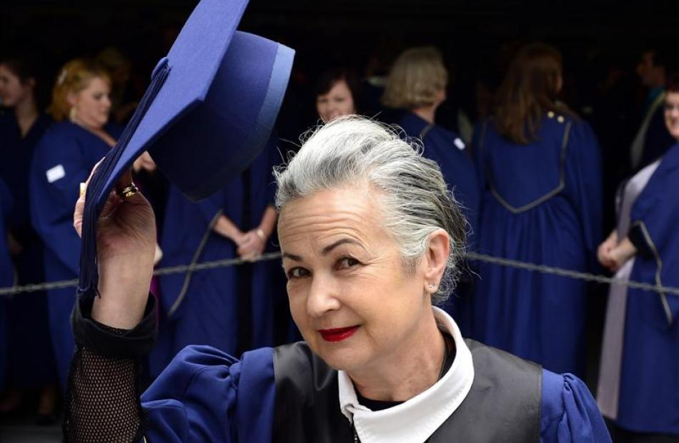 Director of Dunedin fashion label NOM*d Margarita Robertson says being awarded an honorary degree...