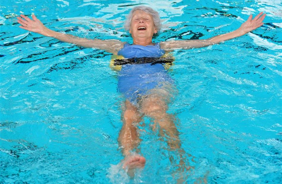 Dorothy Marychurch turned up for the reopening of Dunedin's physio pool yesterday. Photo by...
