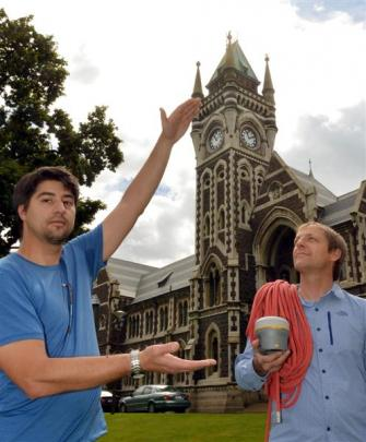 Dr Pascal Sirguey (left), of the University of Otago surveying school, and  Dr Nicholas Cullen,...