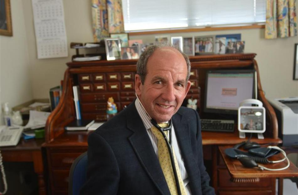 Dr Peter Borrie at his Dunedin surgery. Photo by Peter McIntosh.