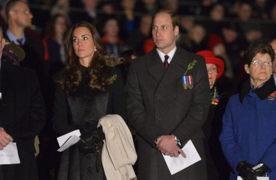 Duke and Duchess of Cambridge made an unexpected appearance at Australia's national dawn service....