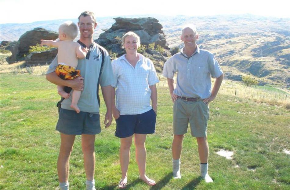 Duncan, Amanda and Alistair Campbell, of Earnscleugh Station, in Central Otago. Photos supplied.