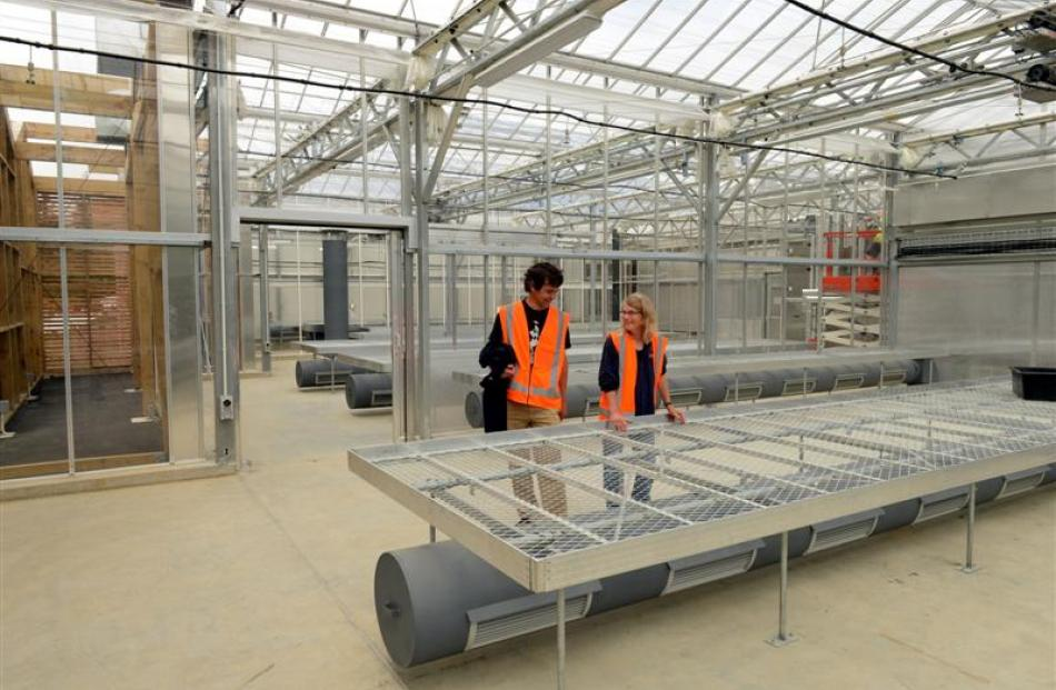 Dunedin Botanic Garden botanical services manager Tom Meyers and propagator Alice Lloyd-Fitt (at...