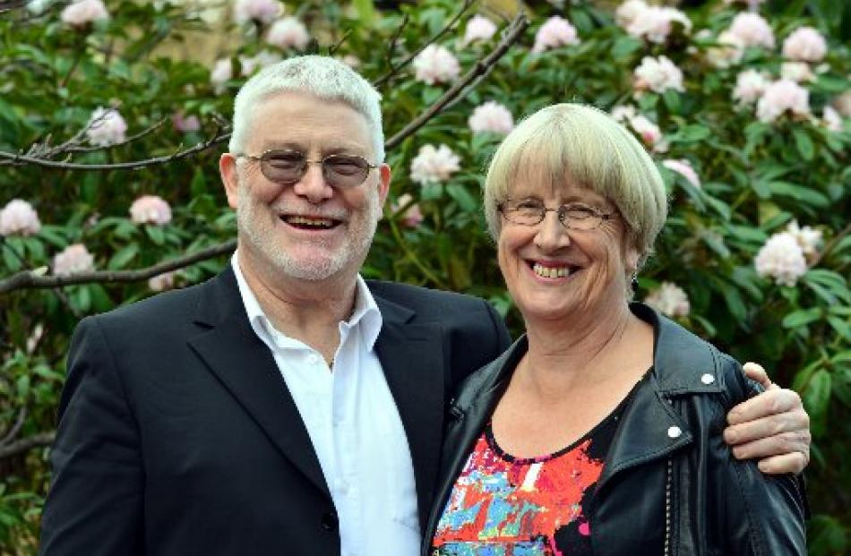 Dunedin businessman Peter Barron and sister Wendy prepare to graduate from the University of...