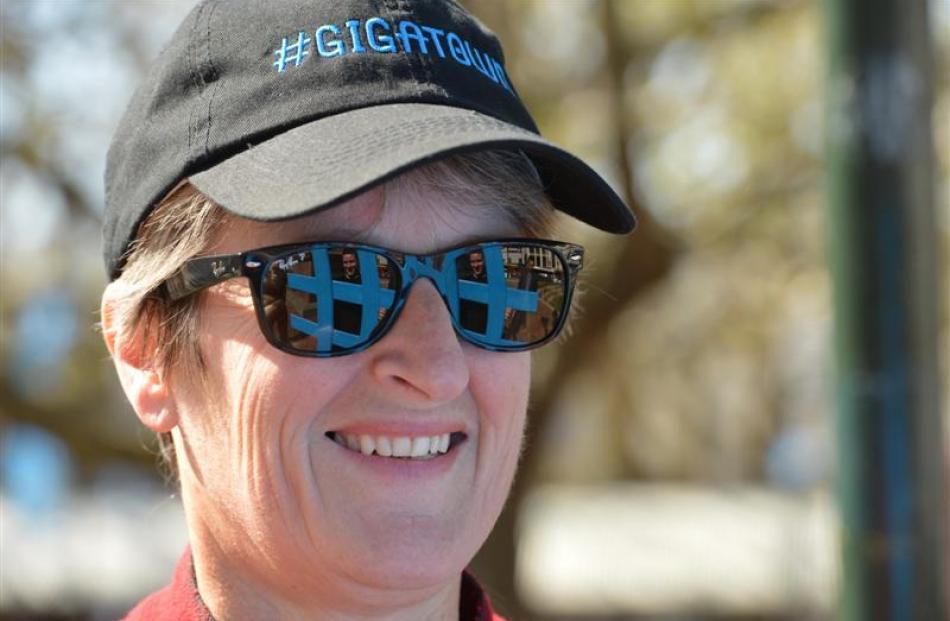 Dunedin City Council chief executive Dr Sue Bidrose ponders the benefits a simple blue hashtag...