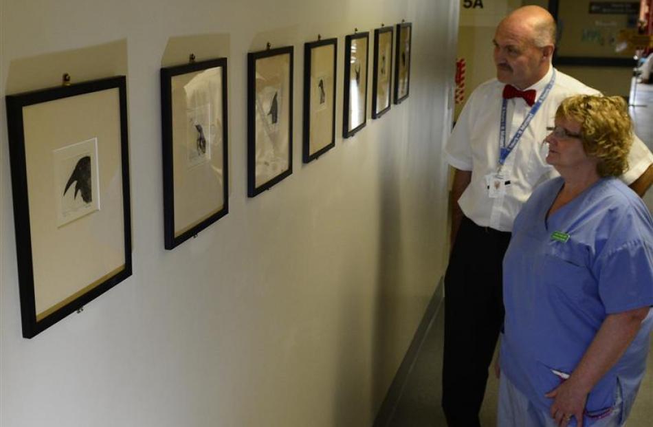 Dunedin Hospital ICU clinical leader Mike Hunter and clinical nurse specialist Linda Grady peruse...