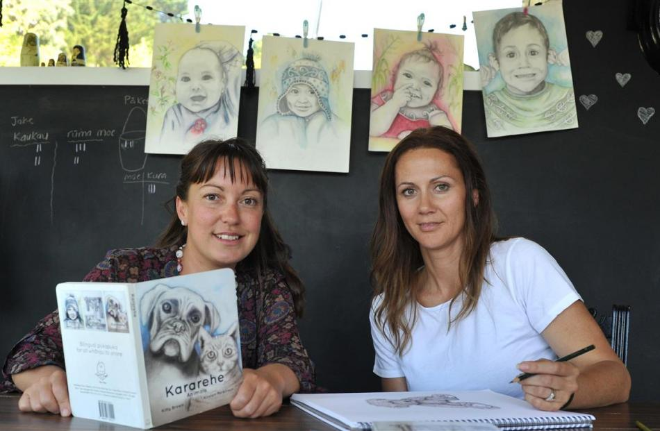 Dunedin mothers Kitty Brown (left) and Kirsten Parkinson created bilingual publishing company Reo...