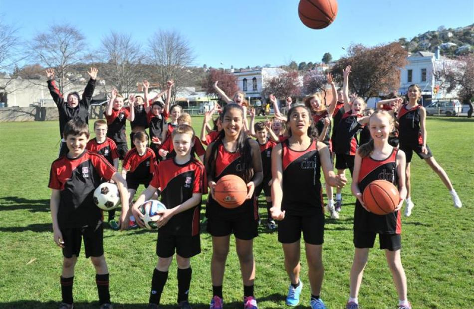 Dunedin North Intermediate pupils are excited for the New Zealand Community Trust Aims Games in...