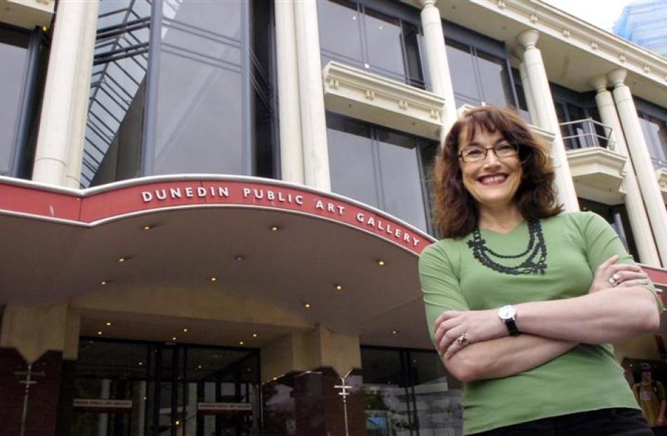 Dunedin Public Art Gallery director Elizabeth Caldwell. Photo by Jane Dawber.