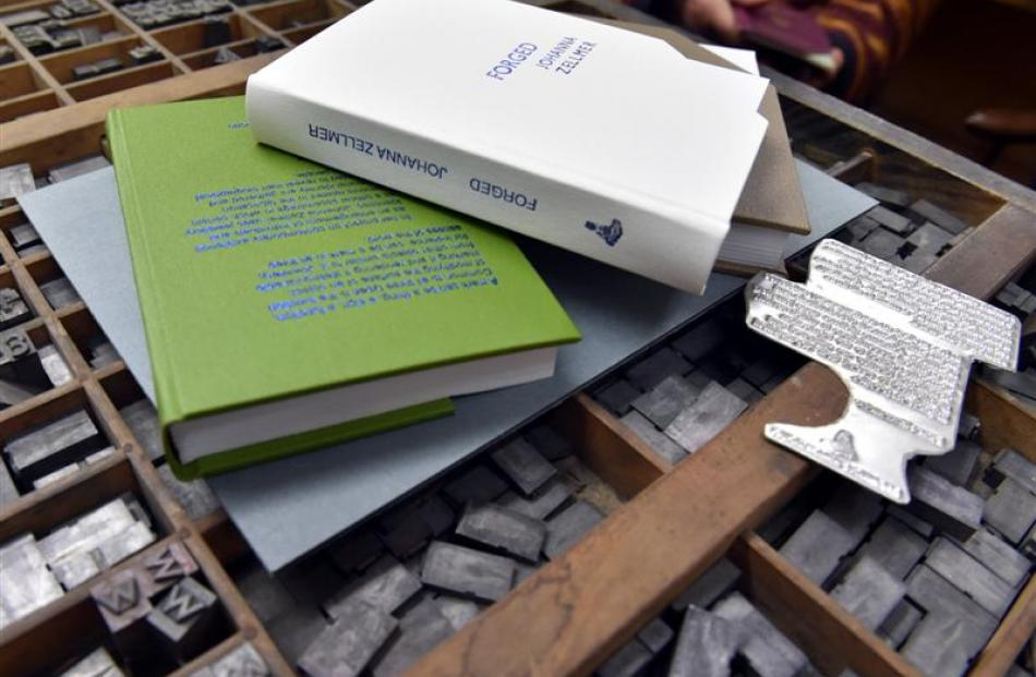 Each of the limited edition books has been hand bound by David Stedman, of Dutybound, Dunedin.