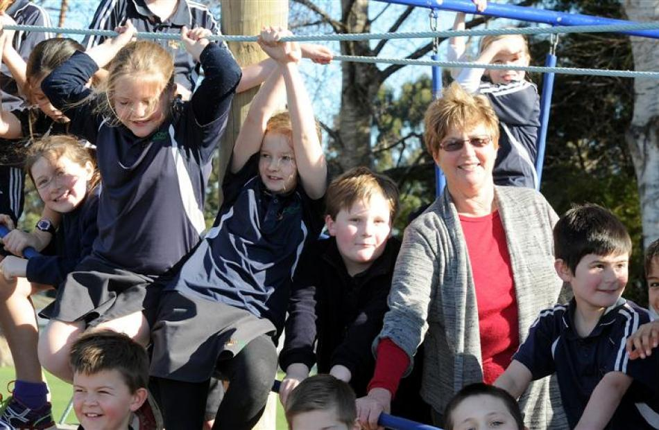 Elmgrove School principal Jenny McDonald is making the most of her time with her pupils before...