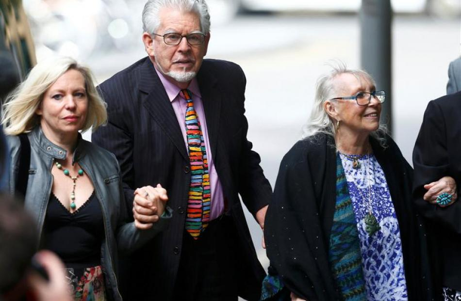 Entertainer Rolf Harris arrives with his daughter Bindi and wife Alwen Hughes at Southwark Crown...