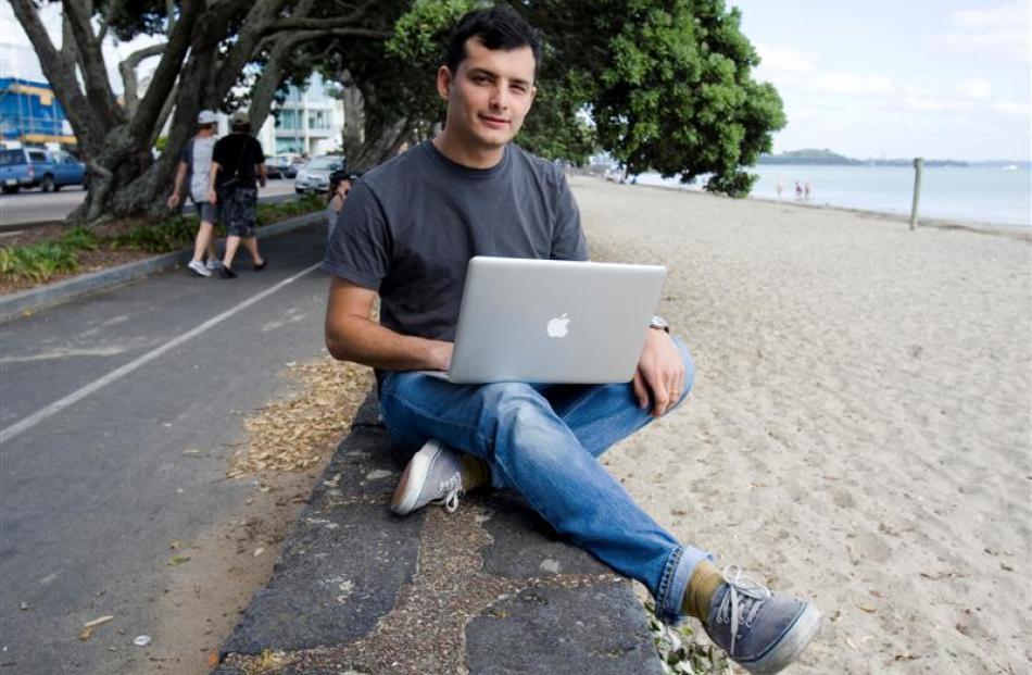 Entrepreneur Derek Handley says Snakk Media is seeking to target India and Australia. Photo NZ...