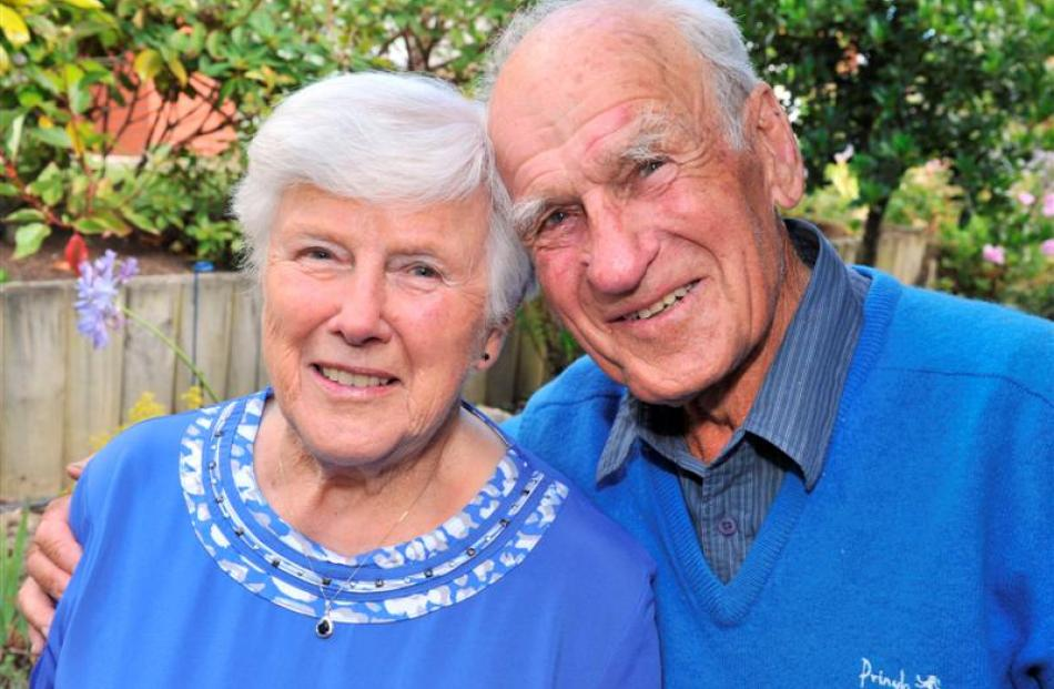 Ethel and Cliff McAuley at their Dunedin home yesterday. Photo by Linda Robertson.