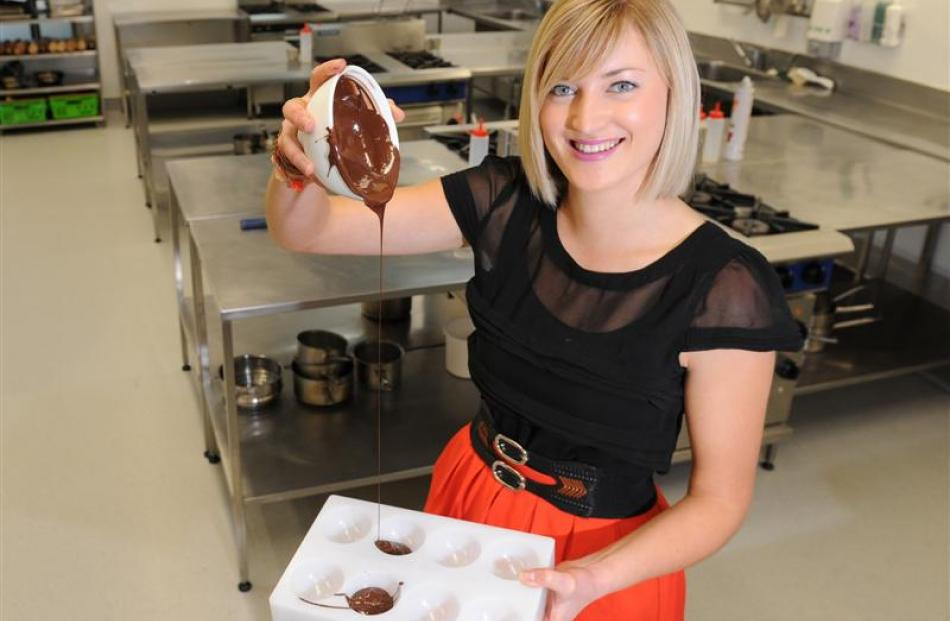 Experimenting with chocolate has helped Otago Polytechnic bachelor of culinary arts student...