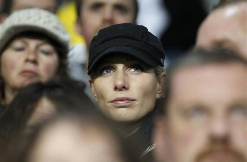 Eyes on the game. No hiding in a corporate hospitality box for Zara Phillips. REUTERS/Stefan Wermuth