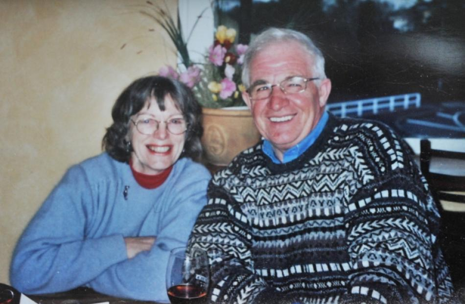 Fin Heads with his late-wife Shirley before her death on April 28, 2008. Supplied photo.