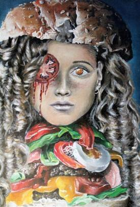Former Bayfield High School pupil Sarah Auckram's painting The Consumption of Beauty, which was...