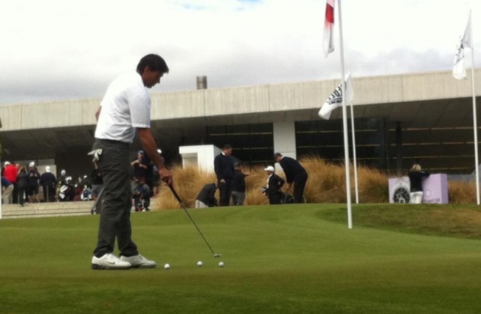 Former Black Caps captain Stephen Fleming on the putting green at The Hills.