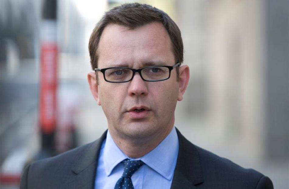 Former editor of the News of the World Andy Coulson arrives at the Old Bailey courthouse in...