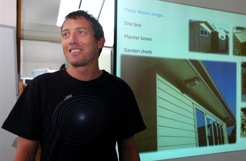 Former Wanaka builder Tom Malpass, of Raglan, won a plaudit at an Otago Polytechnic symposium...