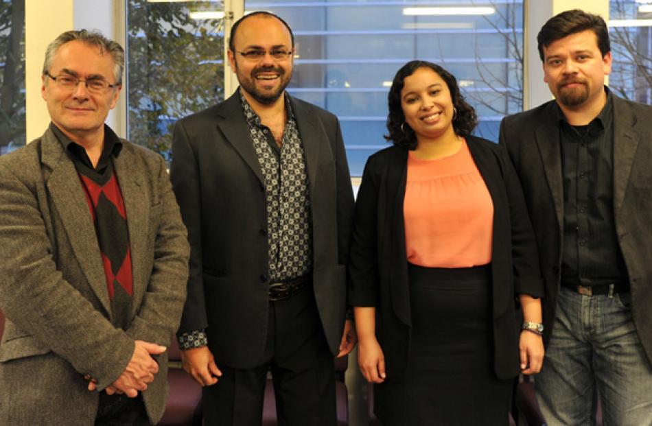 Francisco Araya, of Dunedin, Adelso Yanez, of Dunedin, Amaranta Leon, of Canberra, and Rogelio...