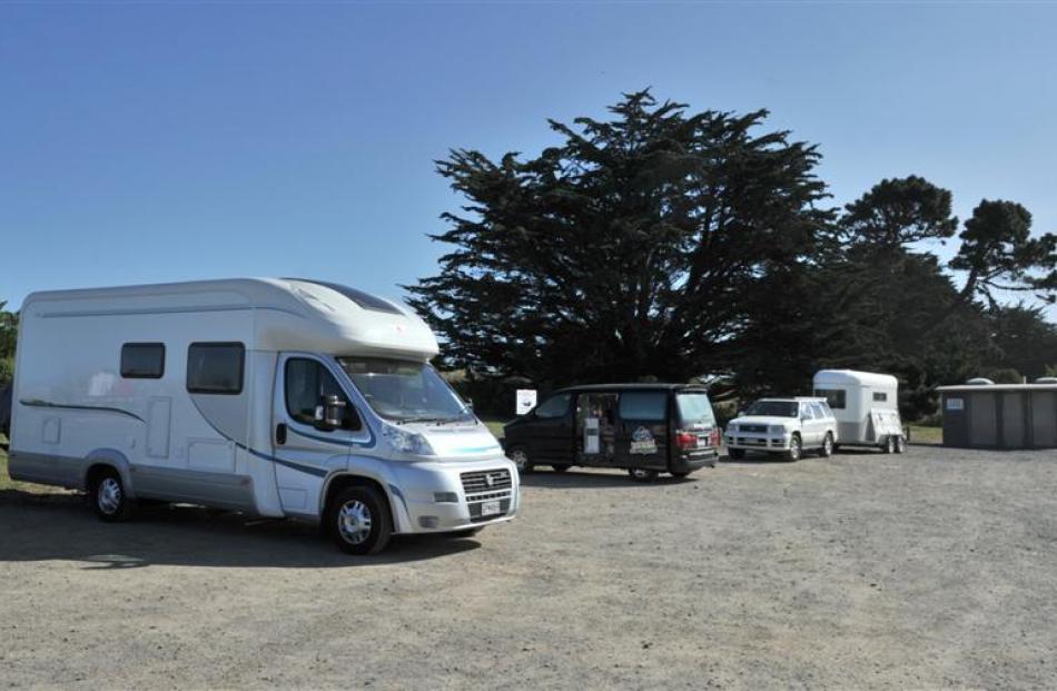 Freedom campers at Ocean View last week. Photo by Linda Robertson.