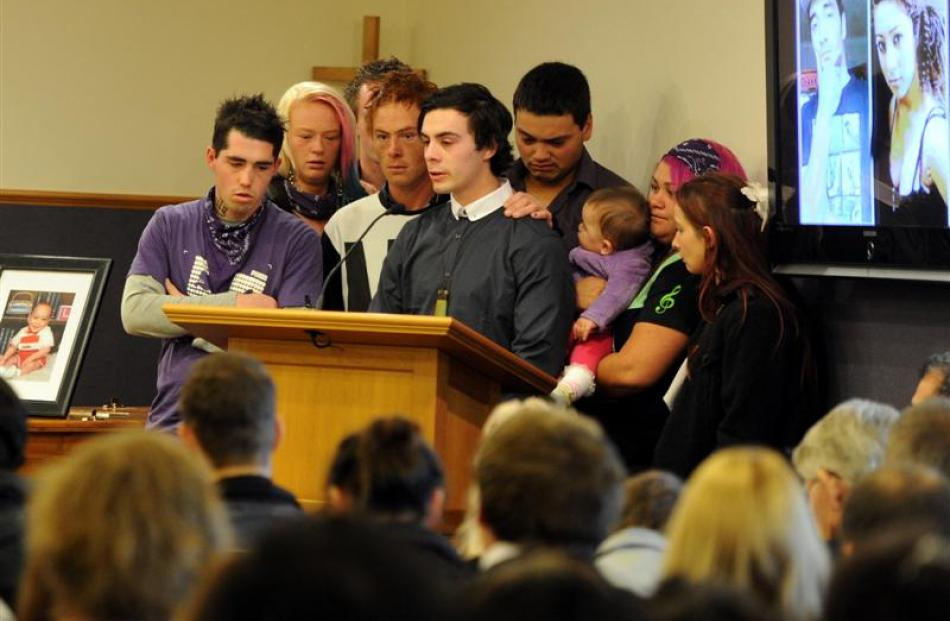 Friends pay tribute to Shannon and Danielle Kiriau at the funeral service for the siblings in...