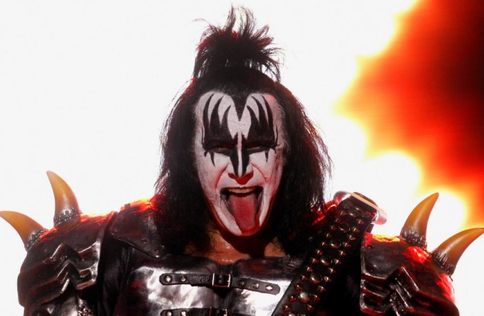 Gene Simmons of the rock band Kiss performs during their concert in Buenos Aires. REUTERS/Marcos...