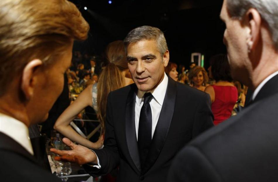 George Clooney during the 18th Annual Screen Actors Guild Awards show at the Shrine Auditorium in...