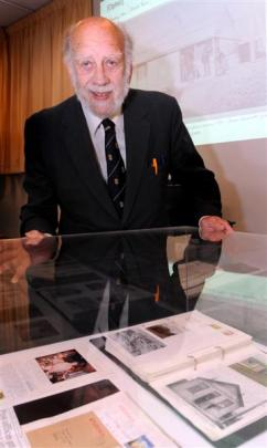 George Griffiths with some of his donated Otago postal history at the Hocken Collections last...