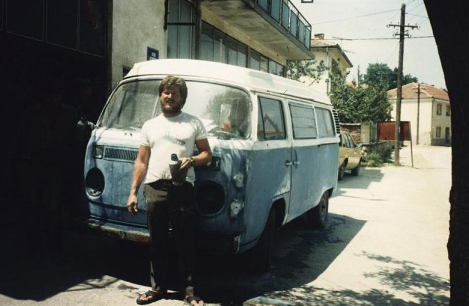 Getting a paint job in Yugoslavia. Photos supplied.