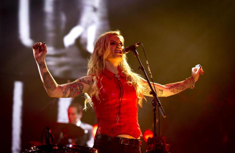 Gin Wigmore during the Vodafone NZ Music Awards held at Vector Arena,  Auckland on Thursday....