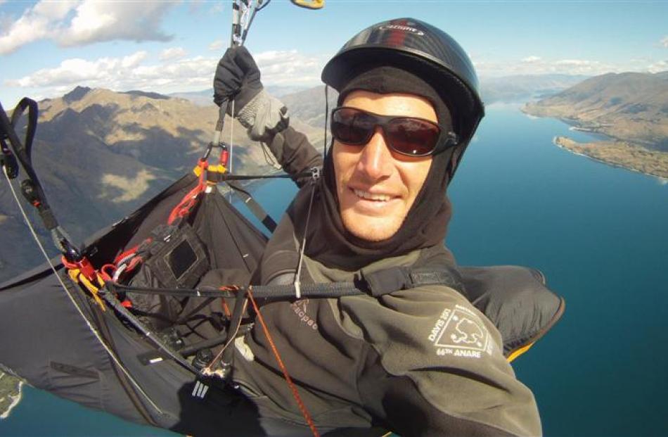 Glenorchy paraglider Nick Neynens. Photos supplied.