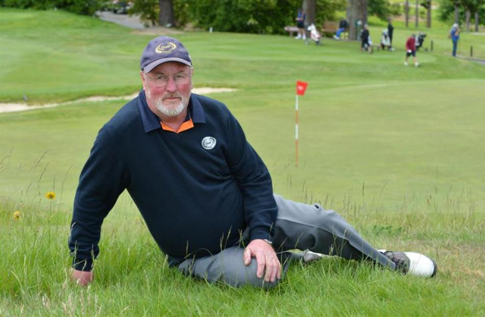 Golf writer Bill Trewern takes in the action at the men's interprovincial golf championships at...