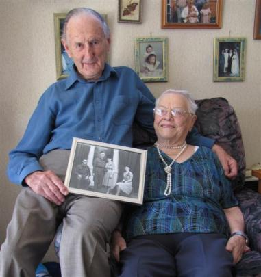 Gordon and Joan Homer, of Alexandra,  who celebrate their platinum wedding anniversary today....