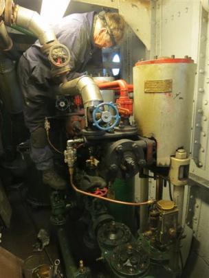 Gough Bros fitter Allan Ledington, of Invercargill, checks the water pumps. Photos by James Beech.