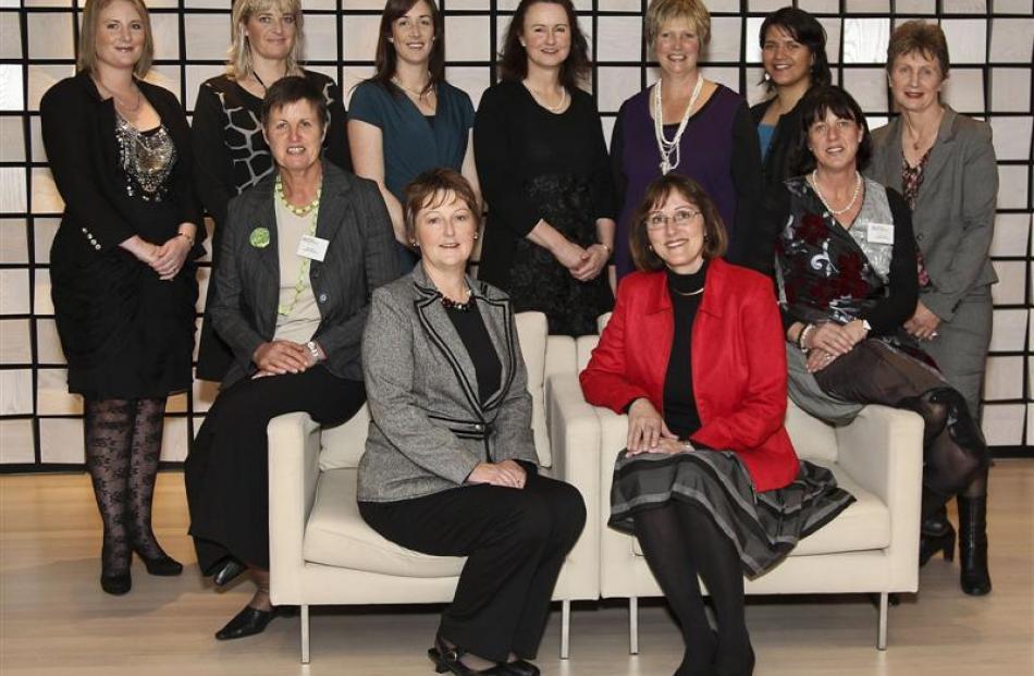 Graduates of the Agri-Women's Development Trust's Escalator course (back row) Andrea Shore,...