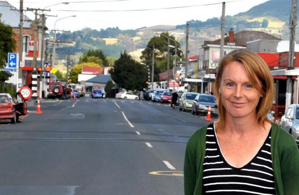 Greater Green Island  Community Network community worker Lynda Davidson  on Main South Rd in...