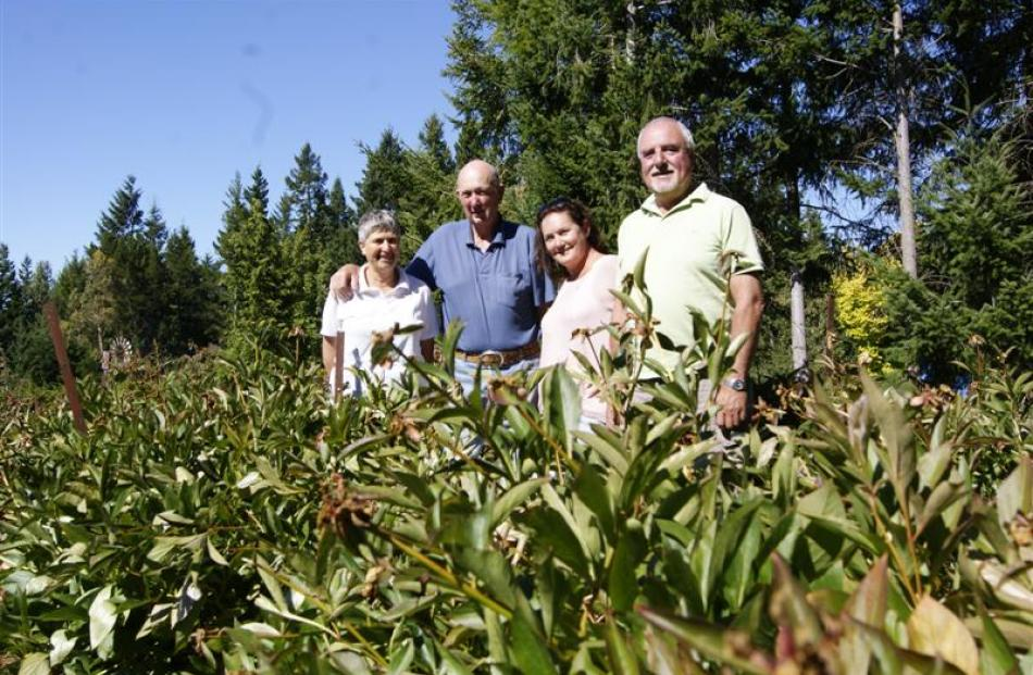 Growing peonies can be a hard business, especially come harvest time, but Jill (left) and John...