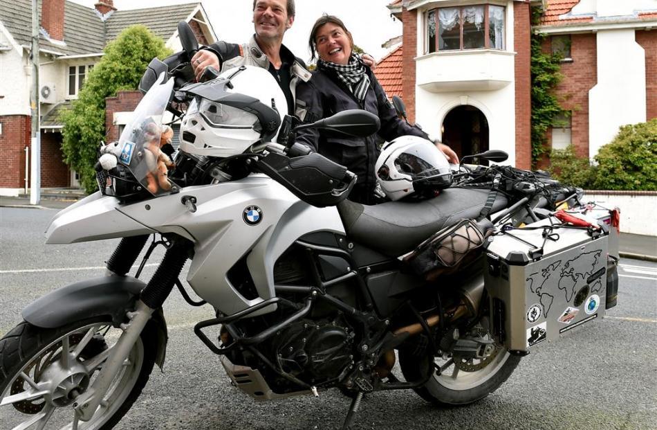 Guido Kanaar and Lilian van der Wijngaart in Dunedin yesterday. Photo by Linda Robertson.