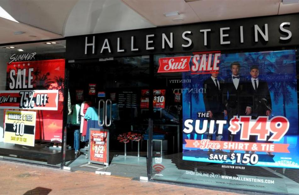 Hallenstein Glasson, pictured in George St, Dunedin, yesterday, has issued two profit downgrades...