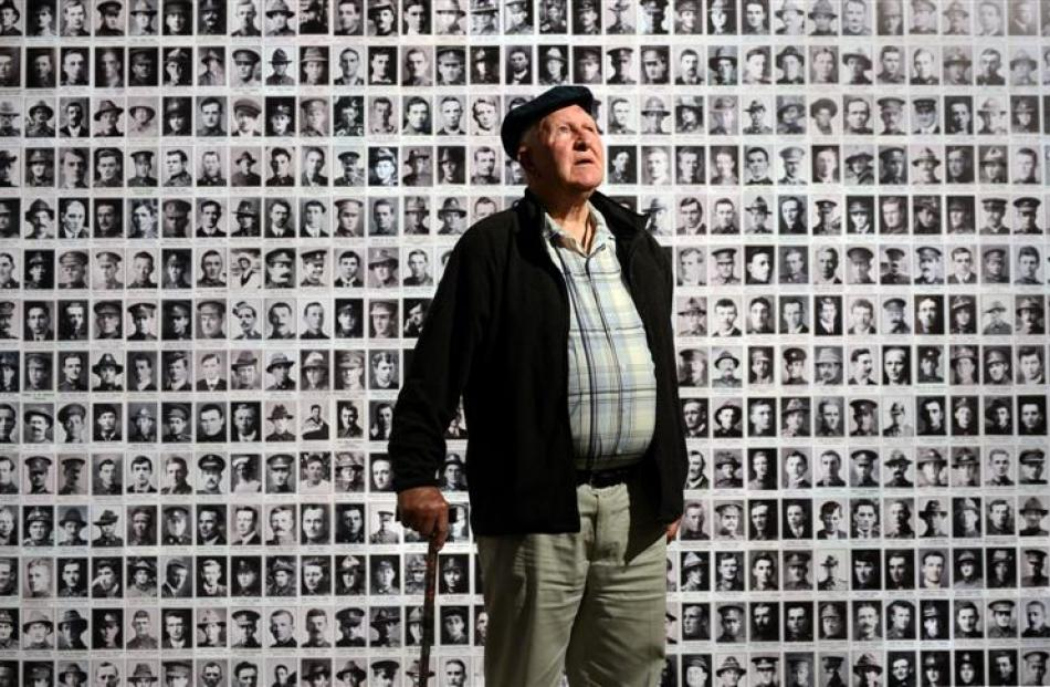 Hampden resident Colin Jack stands at a wall of remembrance at the Toitu Otago Settlers Museum,...