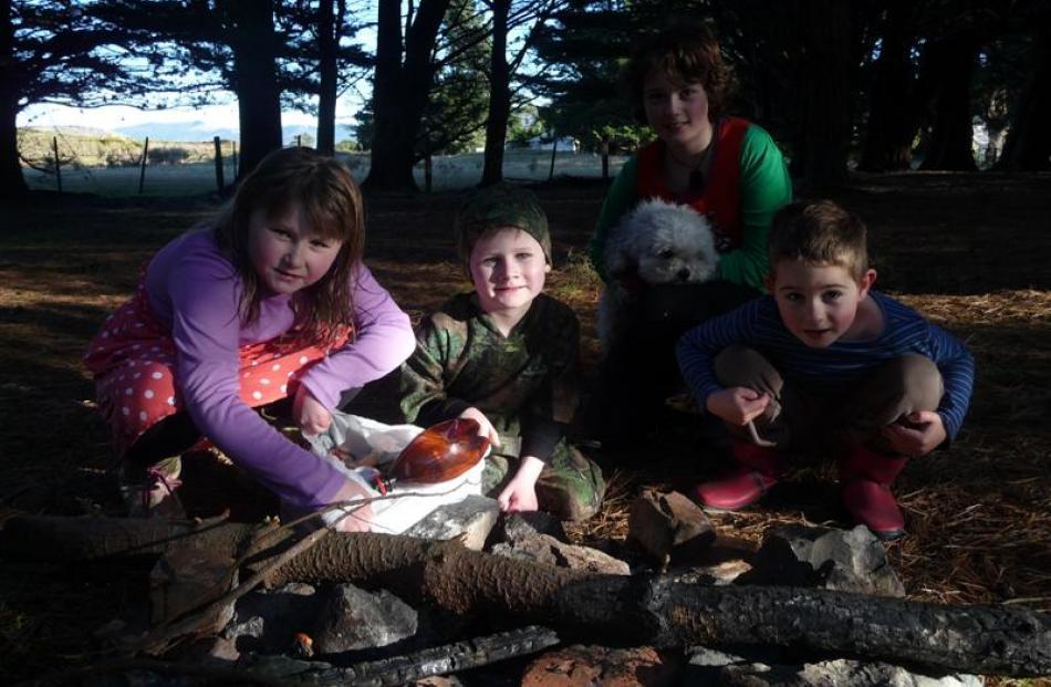 Harwood residents (from left) Jasmine Wilson (7), Harper Wilson (5), Briar Matthews (9) and Dali...